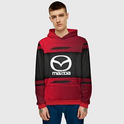 Толстовка-худи мужская Mazda Sport цвета 3D-красный — фото 2
