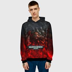 Толстовка-худи мужская Warhammer 40000: Dawn Of War цвета 3D-черный — фото 2