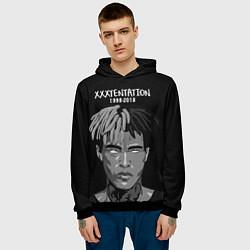 Толстовка-худи мужская XXXTentacion: 1998-2018 цвета 3D-черный — фото 2