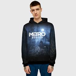 Толстовка-худи мужская Metro Exodus: Dark Moon цвета 3D-черный — фото 2