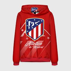 Толстовка-худи мужская ФК Атлетико Мадрид цвета 3D-красный — фото 1