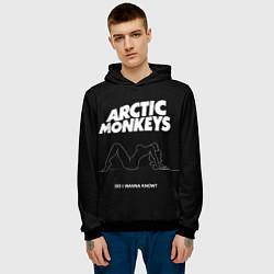 Толстовка-худи мужская Arctic Monkeys: Do i wanna know? цвета 3D-черный — фото 2