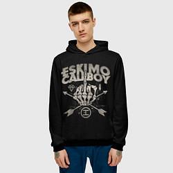 Толстовка-худи мужская Eskimo Callboy: Bones цвета 3D-черный — фото 2