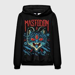 Толстовка-худи мужская Mastodon: Demonic Cat цвета 3D-черный — фото 1