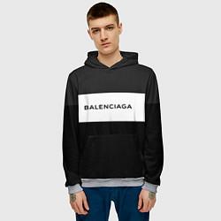 Толстовка-худи мужская Balenciaga: Black Style цвета 3D-меланж — фото 2