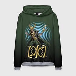 Толстовка-худи мужская Loki цвета 3D-меланж — фото 1