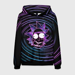 Толстовка-худи мужская Rick Sanchez: Violet Vortex цвета 3D-черный — фото 1