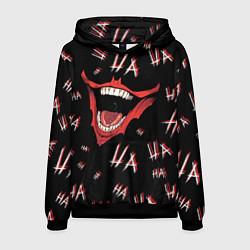 Толстовка-худи мужская Laughter: Ha-ha-ha цвета 3D-черный — фото 1