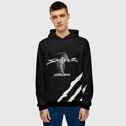 Толстовка-худи мужская XXXTENTACION SKINS цвета 3D-черный — фото 2