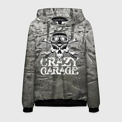 Толстовка-худи мужская Crazy garage цвета 3D-черный — фото 1