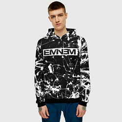 Толстовка-худи мужская Eminem цвета 3D-черный — фото 2
