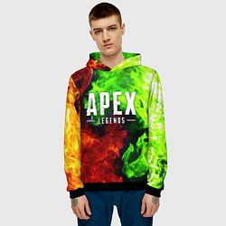 Толстовка-худи мужская APEX LEGENDS цвета 3D-черный — фото 2
