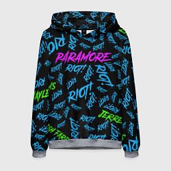 Толстовка-худи мужская Paramore RIOT! цвета 3D-меланж — фото 1