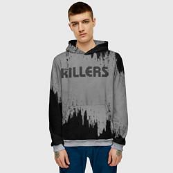 Толстовка-худи мужская The Killers Logo цвета 3D-меланж — фото 2