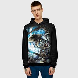 Толстовка-худи мужская Raiden цвета 3D-черный — фото 2