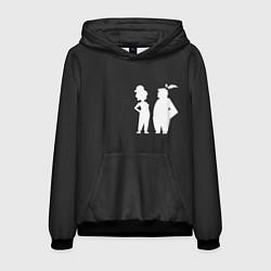 Толстовка-худи мужская It Takes Two Silhouette цвета 3D-черный — фото 1