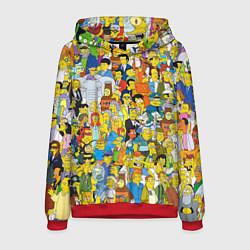 Толстовка-худи мужская Simpsons Stories цвета 3D-красный — фото 1