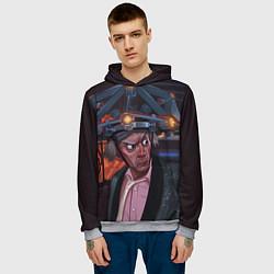 Толстовка-худи мужская Emmett Lathrop Brown цвета 3D-меланж — фото 2