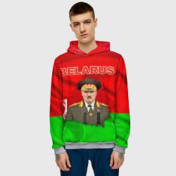 Толстовка-худи мужская Belarus: Lukashenko цвета 3D-меланж — фото 2