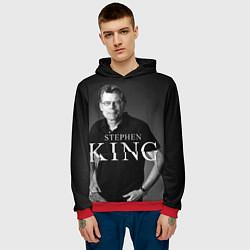 Толстовка-худи мужская Стивен Кинг цвета 3D-красный — фото 2