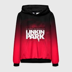 Толстовка-худи мужская Linkin Park: Minutes to midnight цвета 3D-черный — фото 1