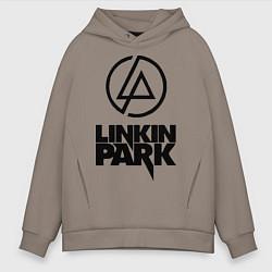 Толстовка оверсайз мужская Linkin Park цвета утренний латте — фото 1