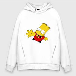Толстовка оверсайз мужская Simpsons 8 цвета белый — фото 1
