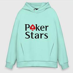 Толстовка оверсайз мужская Poker Stars цвета мятный — фото 1