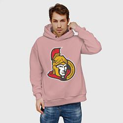Толстовка оверсайз мужская Ottawa Senators цвета пыльно-розовый — фото 2