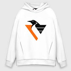 Толстовка оверсайз мужская Pittsburgh Penguins цвета белый — фото 1