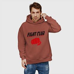 Толстовка оверсайз мужская Fight Club цвета кирпичный — фото 2