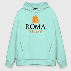 Толстовка оверсайз мужская AS Roma 1927 цвета мятный — фото 1