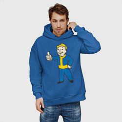 Толстовка оверсайз мужская Fallout Boy цвета синий — фото 2