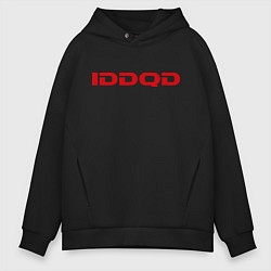 Толстовка оверсайз мужская IDDQD Doom цвета черный — фото 1