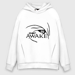 Толстовка оверсайз мужская Skillet awake цвета белый — фото 1
