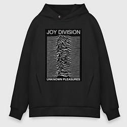 Толстовка оверсайз мужская Joy Division: Unknown Pleasures цвета черный — фото 1