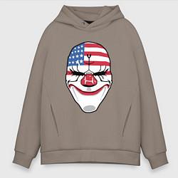 Толстовка оверсайз мужская American Mask цвета утренний латте — фото 1
