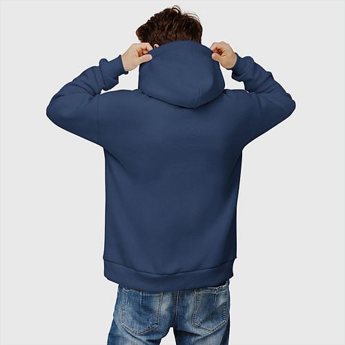 Мужское худи оверсайз Со мной сложно / Тёмно-синий – фото 4