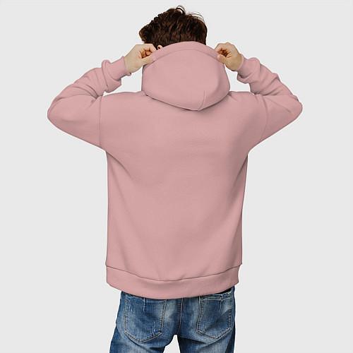Мужское худи оверсайз Эта ненормальная со мной / Пыльно-розовый – фото 4