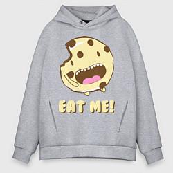 Толстовка оверсайз мужская Cake: Eat me! цвета меланж — фото 1