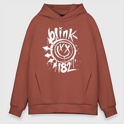 Толстовка оверсайз мужская Blink-182: Smile цвета кирпичный — фото 1