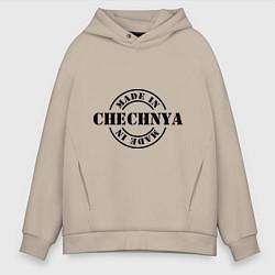 Толстовка оверсайз мужская Made in Chechnya цвета миндальный — фото 1