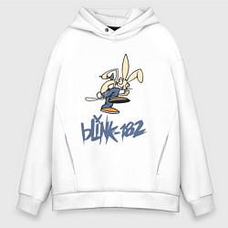 Толстовка оверсайз мужская BLINK-182 цвета белый — фото 1