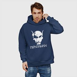 Толстовка оверсайз мужская TES - Приплыли цвета тёмно-синий — фото 2