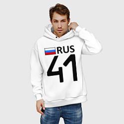 Толстовка оверсайз мужская RUS 41 цвета белый — фото 2