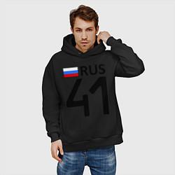 Толстовка оверсайз мужская RUS 41 цвета черный — фото 2