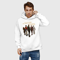 Толстовка оверсайз мужская The Suicide Squad цвета белый — фото 2