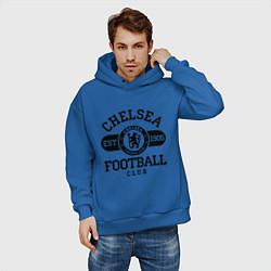 Толстовка оверсайз мужская Chelsea Football Club цвета синий — фото 2