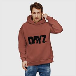 Толстовка оверсайз мужская DayZ цвета кирпичный — фото 2
