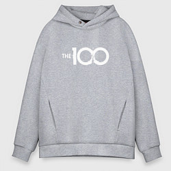 Толстовка оверсайз мужская The 100 цвета меланж — фото 1
